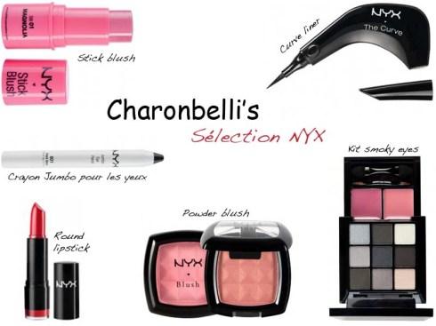 Sélection maquillage NYX - Charonbelli's blog beauté