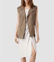 Cohen leather gilet All Saints - Charonbelli's blog mode