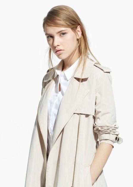 Trench zippé Zara - Charonbelli's blog mode