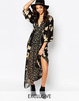 Maxi robe kimono Reclaimed vintage - sélection shopping spéciale festival - Charonbelli's blog mode