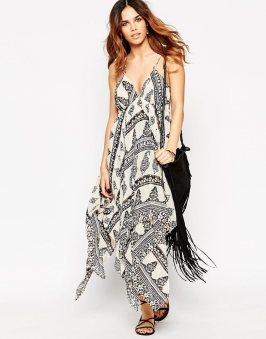 Robe d'été motif cachemire Asos - sélection shopping spéciale festival - Charonbelli's blog mode