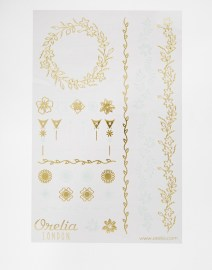 Tatouages temporaires motif fleurs métallisées Orélia - sélection shopping spéciale festival - Charonbelli's blog mode