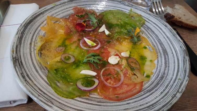 Carpaccio de tomates - J'ai testé Clover le nouveau restaurant de Jean-François Piège - Charonbelli's blog mode et beauté