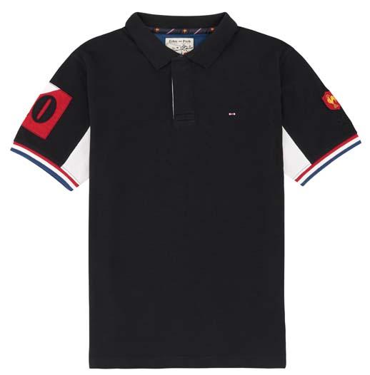 Polo de rugby FFR noir manches courtes Eden Park - Ma sélection shopping spéciale Coupe du Monde 2015 avec Eden Park - Charonbelli's blog mode