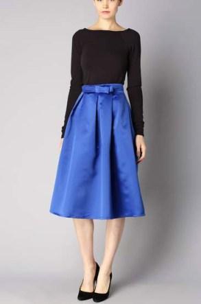 Jupe bleue noeud cousu Ron LM Lulu - Charonbelli's blog mode