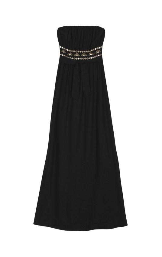 Robe-longue-bustier-festive-black-Amenapih-Charonbellis