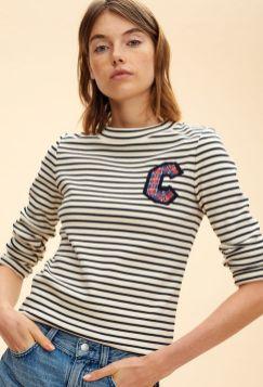 Touquet-t-shirt-mariniere-Claudie-Pierlot-Charonbellis