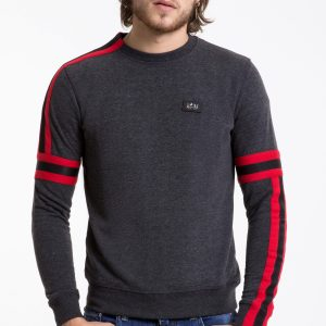 Pascucci trendy ronde hals heren sweatshirt, P017 Antraciet