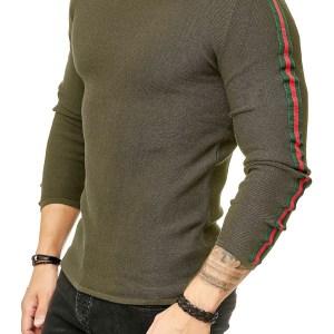 Red Bridge trendy ronde hals dunne heren pullover, R387 Khaki