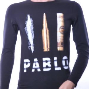 LAGOS trendy Pablo Escobar heren sweatshirt, L175 Zwart