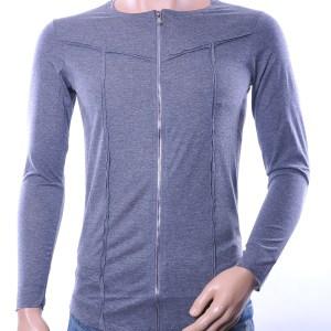 Lagos trendy heren lang sweatshirt met ritssluiting, L836 Grijs