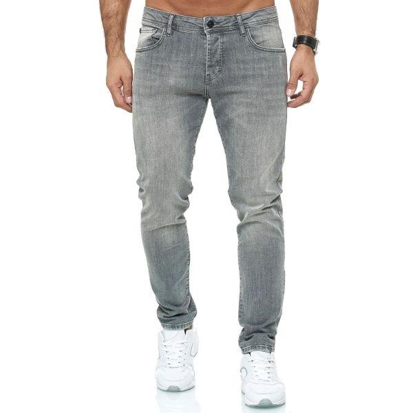 Red Bridge trendy gewassen slim fit heren stretch jeans, R253 Grijs