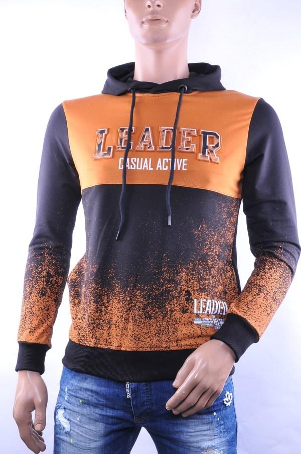 Ci-Borg trendy heren sweatshirt met capuchon, C761 Bruin