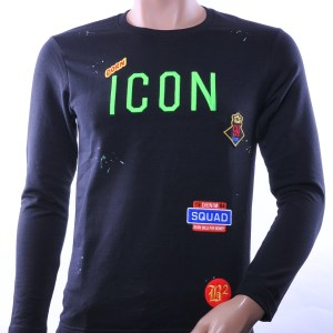 BlackRock trendy ronde hals ICON geborduurde heren sweatshirt, B635 Groen