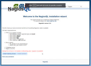 nagiosql welcome wizard