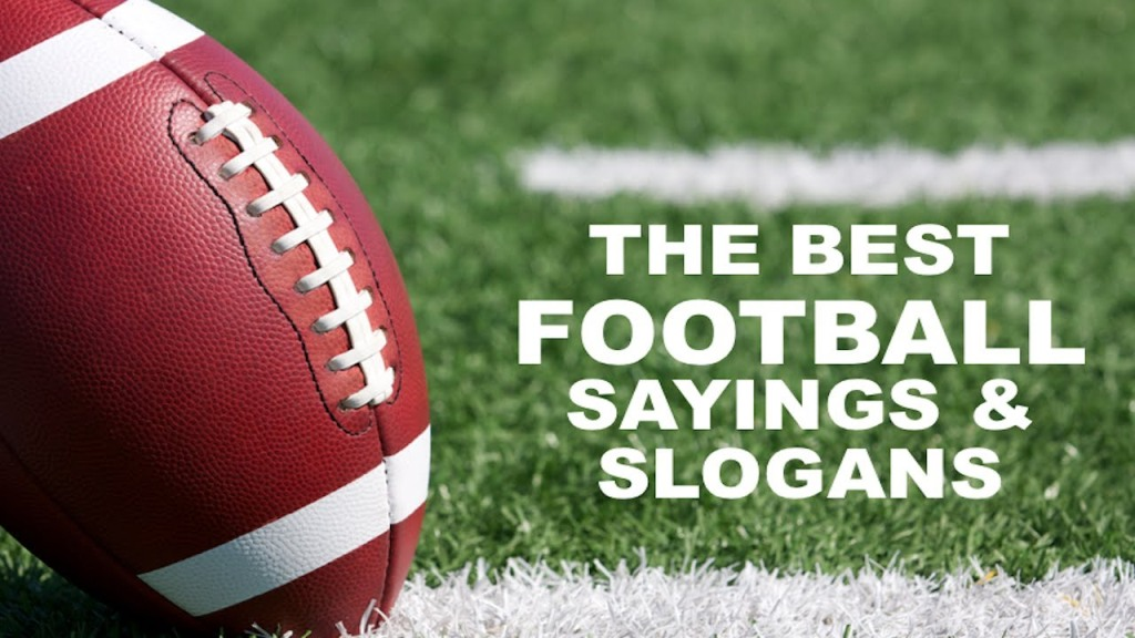 100 Catchy Football Sayings