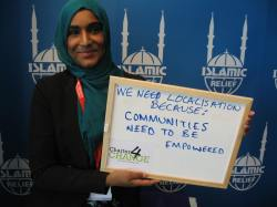 We need localisation because, Communities need to be empowered, Islamic Relief, Bond Conference UK