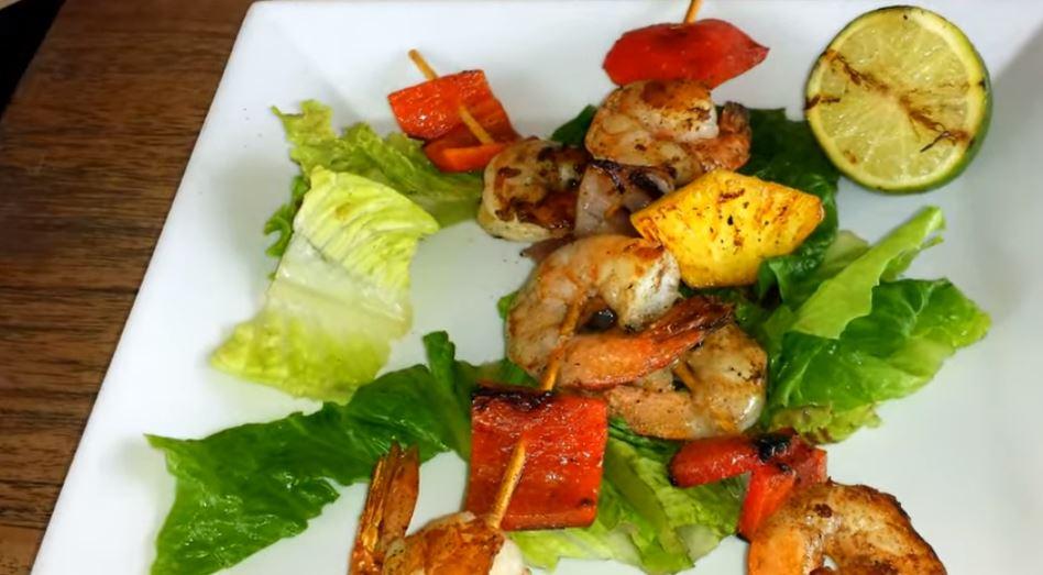 Cooper Island Beach Club Restaurant shrimp dish