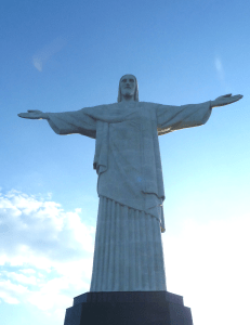 'Christ the Redeemer' is the most famous attraction in Rio de Janeiro.