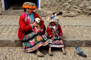 Indigenous Peruvian woman <script srcset=