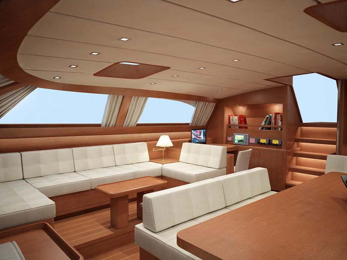The Baltic 112 Sailing Yacht Nilaya Saloon Interior Design