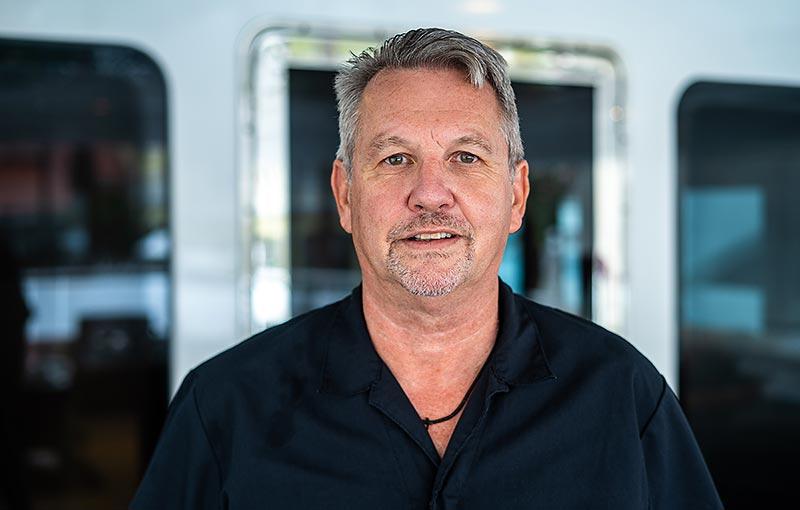 Chief Engineer, Paul Lyndon (PJ)