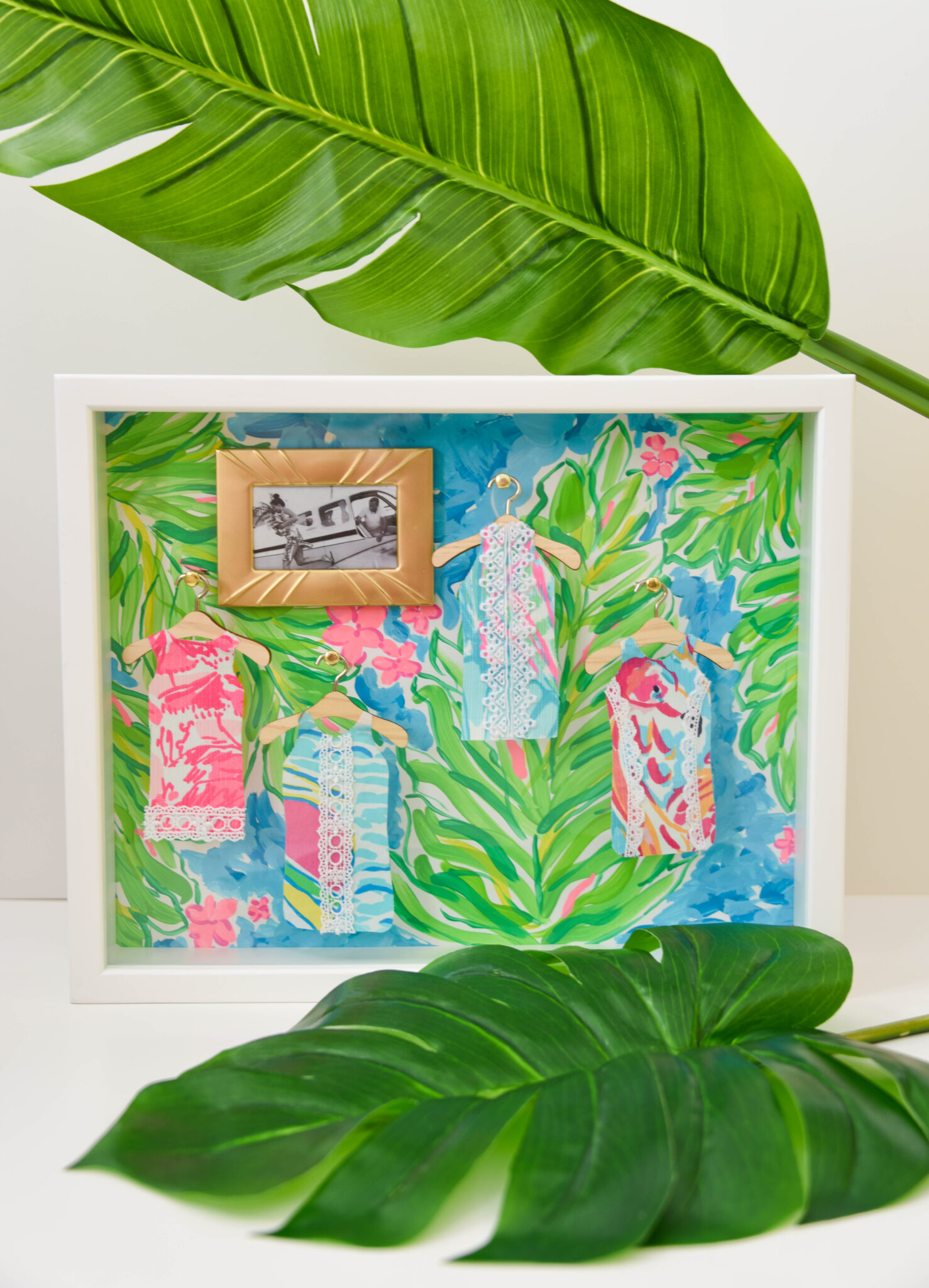Lilly Pulitzer Dressing Room Shadow Box