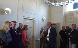 Deputy Mayor showing us Town Hall