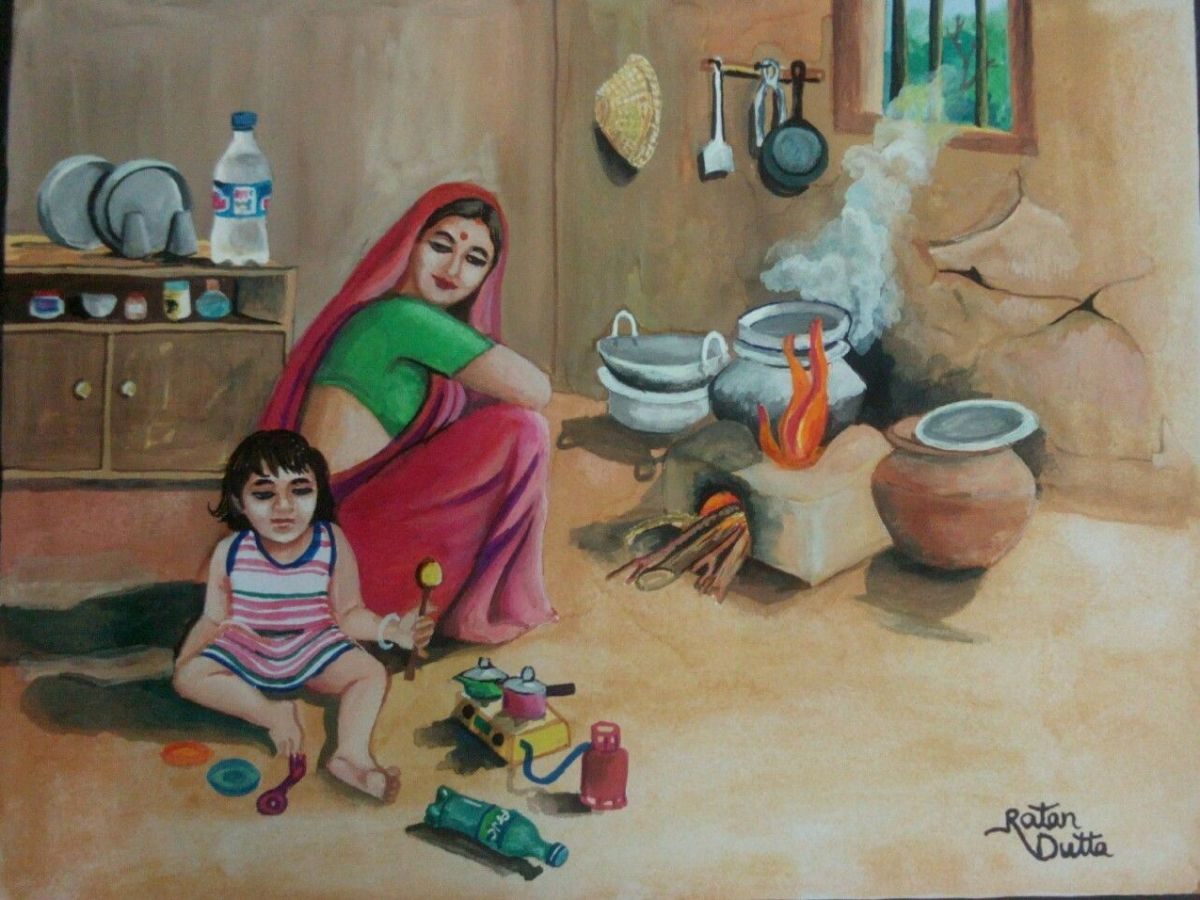 Indian Village Baby Girl