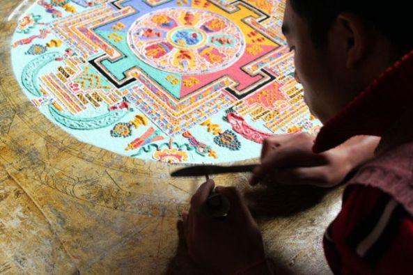 Mandala in the making