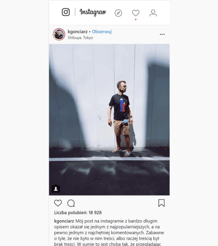 Profesjonalne Konto na Instagramie