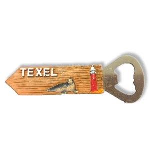 Texel Souvenir opener met vuurtoren en zeehond