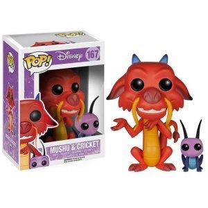 Funko Pop van Mushu & Cricket van Disney Mulan 167