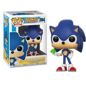 Funko Pop van Sonic with Emerald uit Sonic the Hedgehog 284