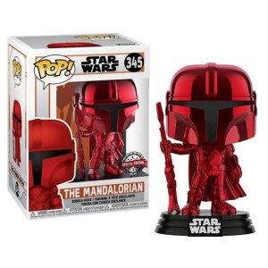 Funko Pop van The Mandalorian (red) uit Star Wars 345