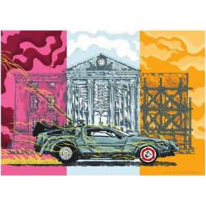 Art Print Poster van DeLorean van Back to the Future