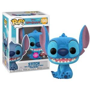 Funko Pop van Stitch (Seated) (Flocked) uit Lilo & Stitch 1045