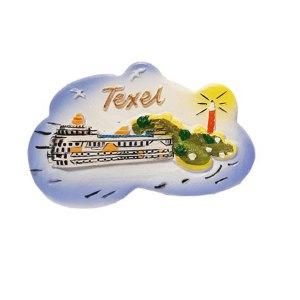 Magneet van Teso met vuurtoren van Texel