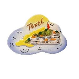 Magneet van Teso met vuurtoren Texel