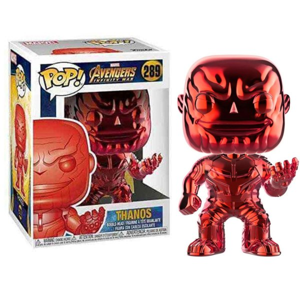 Funko Pop van Thanos (Red Chrome) uit Marvel Avengers 289