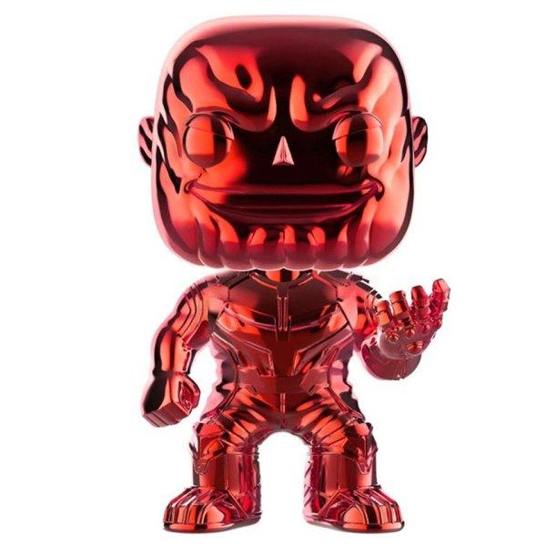 Funko Pop van Thanos (Red Chrome) uit Marvel Avengers 289 unboxed