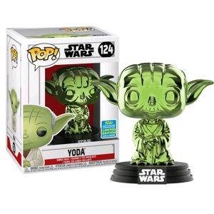 Funko Pop van Yoda (Green Chrome) uit Star Wars 124
