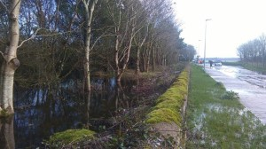 Storm Frank Dec 2015 ditch flood