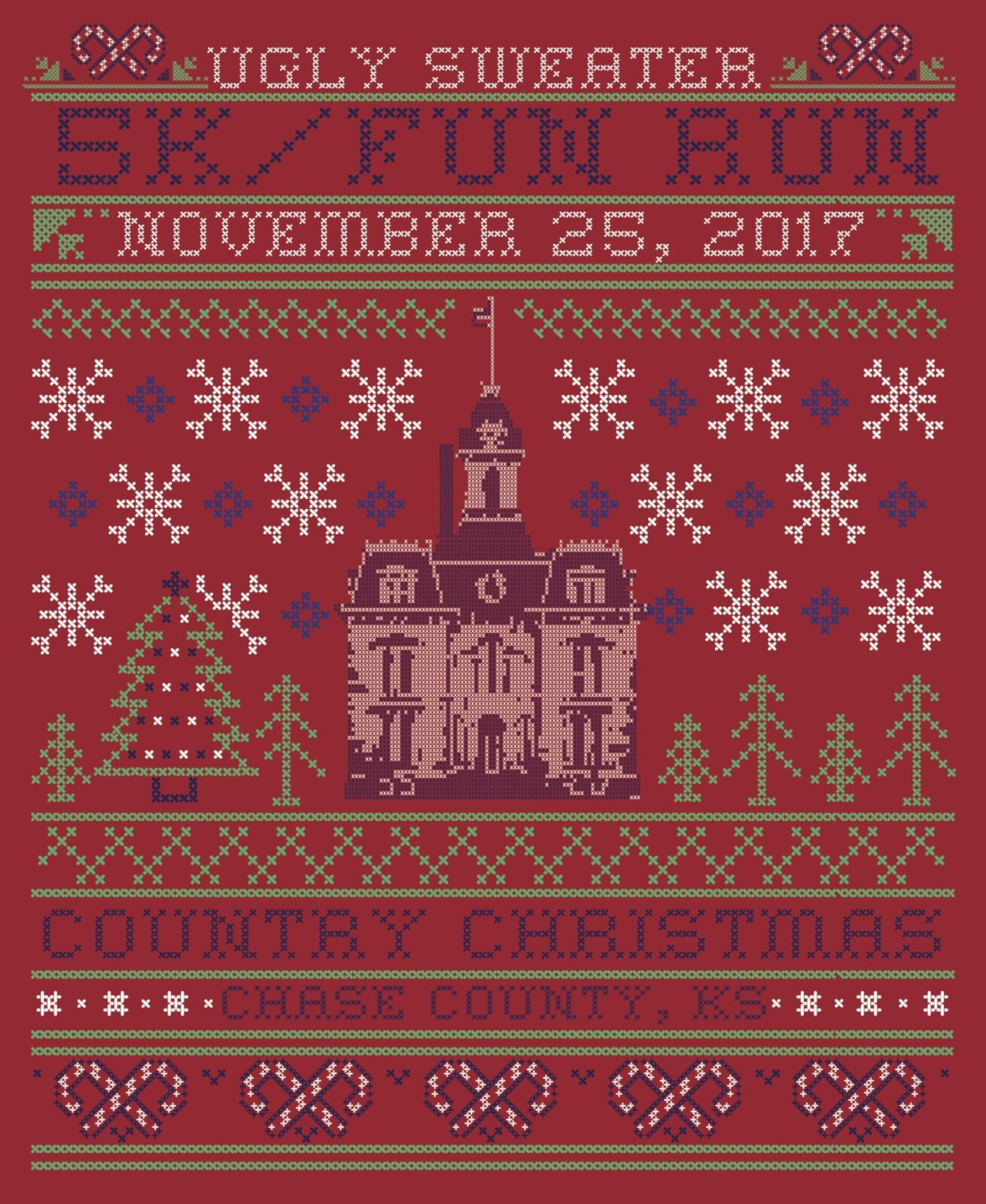 Annual Country Christmas UGLY SWEATER RUN registration information