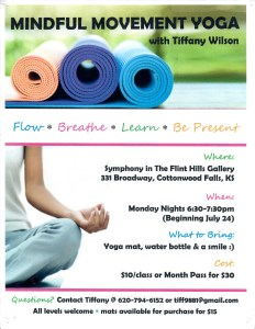 Mindful Movement Yoga Class @ Symphony in the Flint Hills Gallery