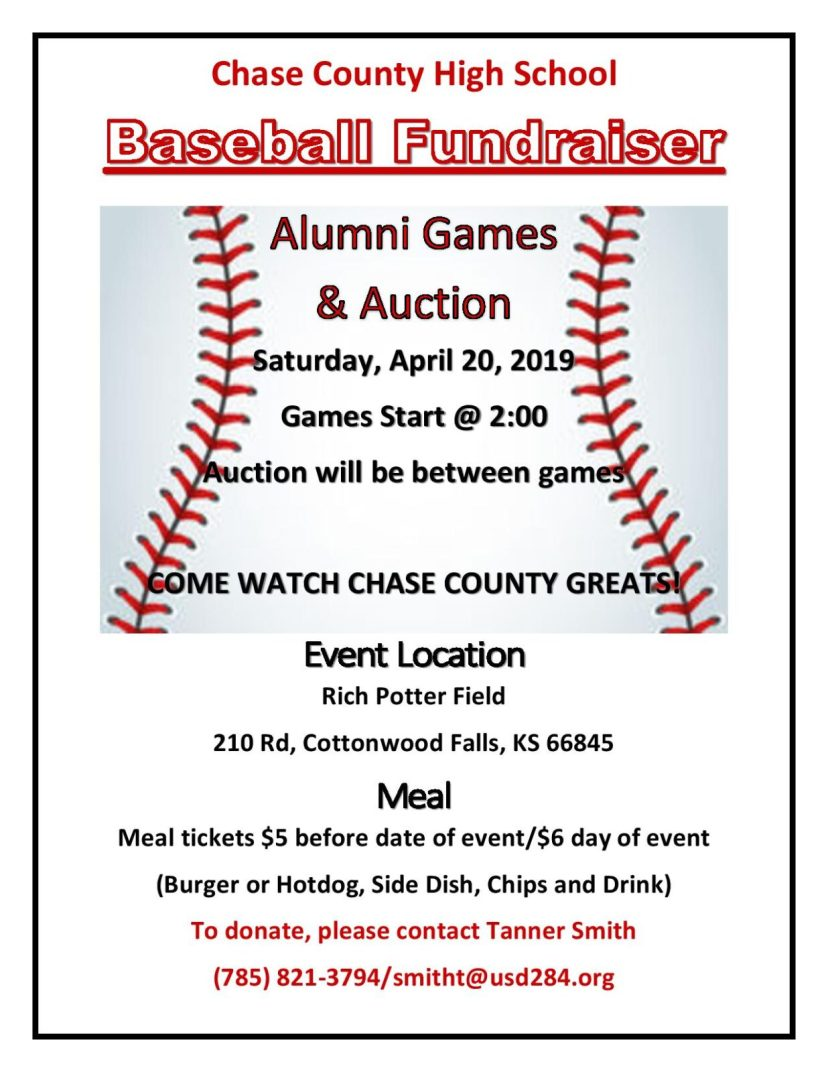 HS Baseball Alumni Game & Fundraiser Auction