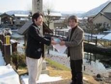 越前大野でコンサート「清水ゆうコンサート」@越前大野の里めいりん CD『イトヨのとうさん』の贈呈/どこまでもアマチュア
