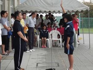 水泳大会の応援に行って来ました。 選手宣誓/どこまでもアマチュア