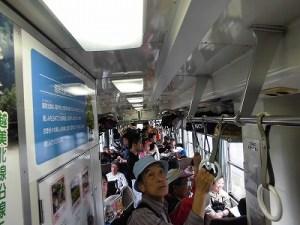 第50回越前大野名水マラソン 超満員の越美北線始発の普通列車内/どこまでもアマチュア