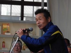 第50回越前大野名水マラソン 間寛平氏のあいさつ/どこまでもアマチュア